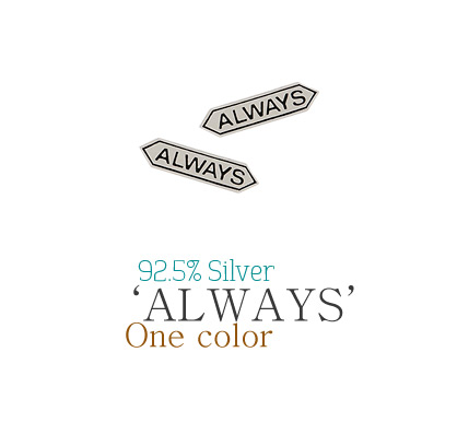 [ 4xtyle ] Always Silver Earring, One Color