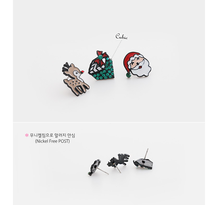 [ 4xtyle ] Christmas Present Earring, 2 Colors