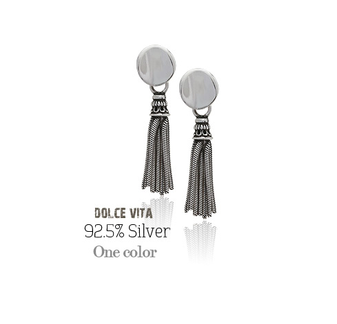 [ 4xtyle ] Dolce Vita Silver Earring, One Color