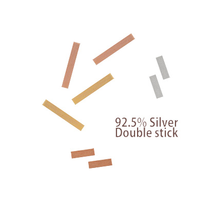 [ 4xtyle ] [SILVER] DOUBLE STICK EARRING (5MM)