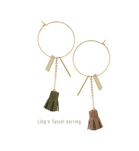 [ 4xtyle ] Ling n Tassel Earring, 4 Colors