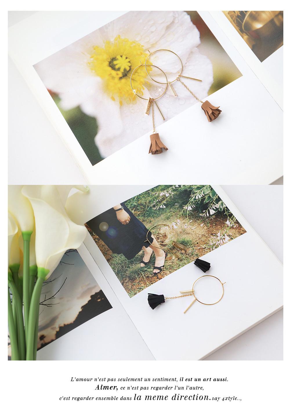 [ 4xtyle ] 凌n·流苏耳环、4种颜色