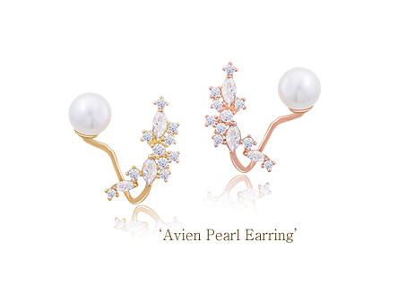[ 4xtyle ] Avien Pearl Earring, 3 Colors