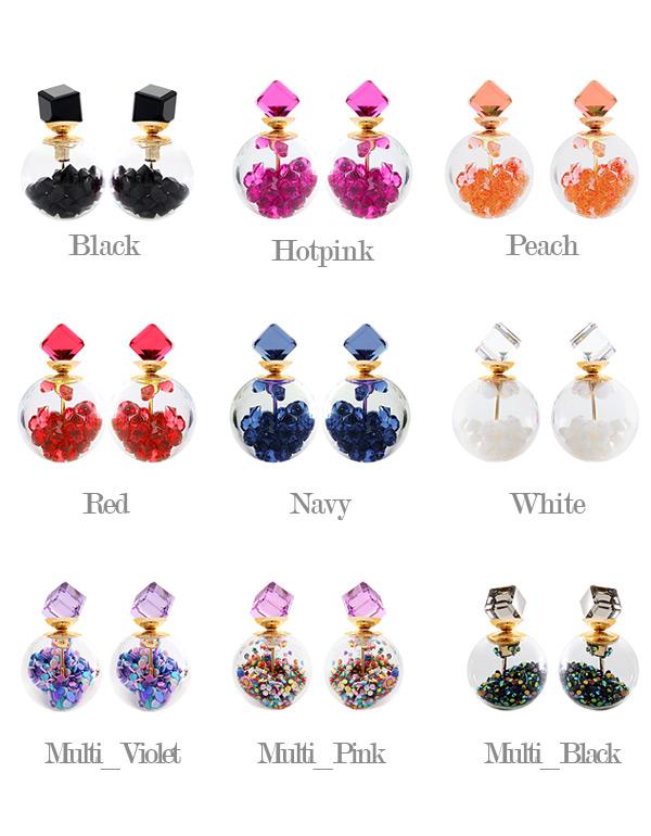 [ 4xtyle ] Crystal Tribale耳环、9种颜色