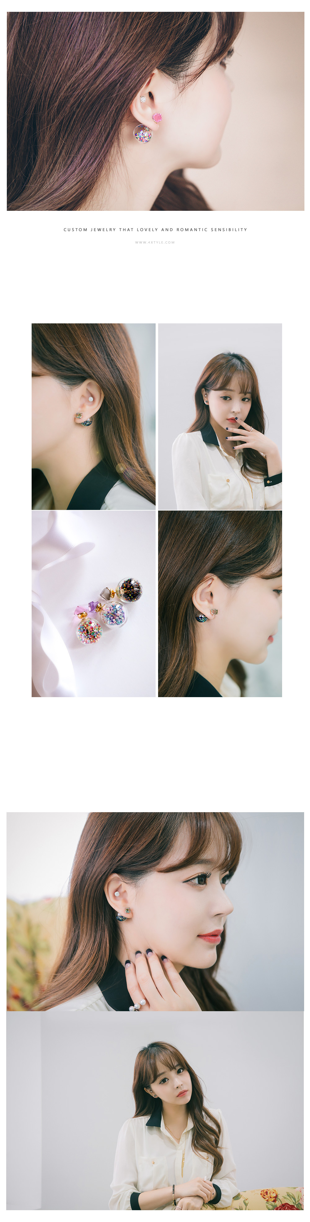 [ 4xtyle ] Crystal Tribale Earring, 9 Colors