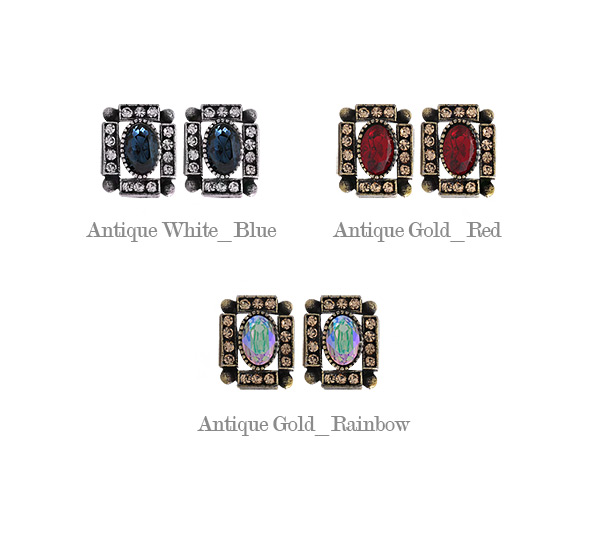 [ 4xtyle ] Elga方形耳环、3种颜色