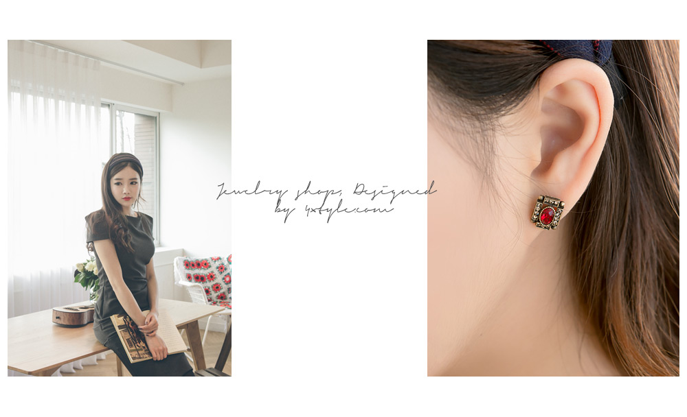 [ 4xtyle ] Elga Square Earring, 3 Colors
