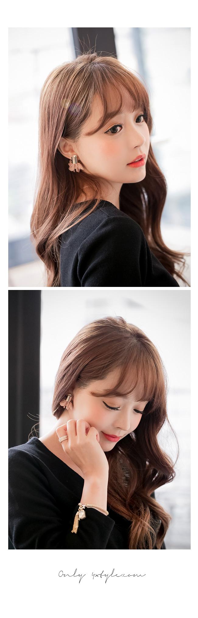[ 4xtyle ] Flower Shiffon Earring, 4 Colors
