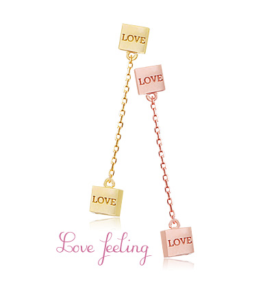 [ 4xtyle ] [SILVER] LOVE FEELING EARRING