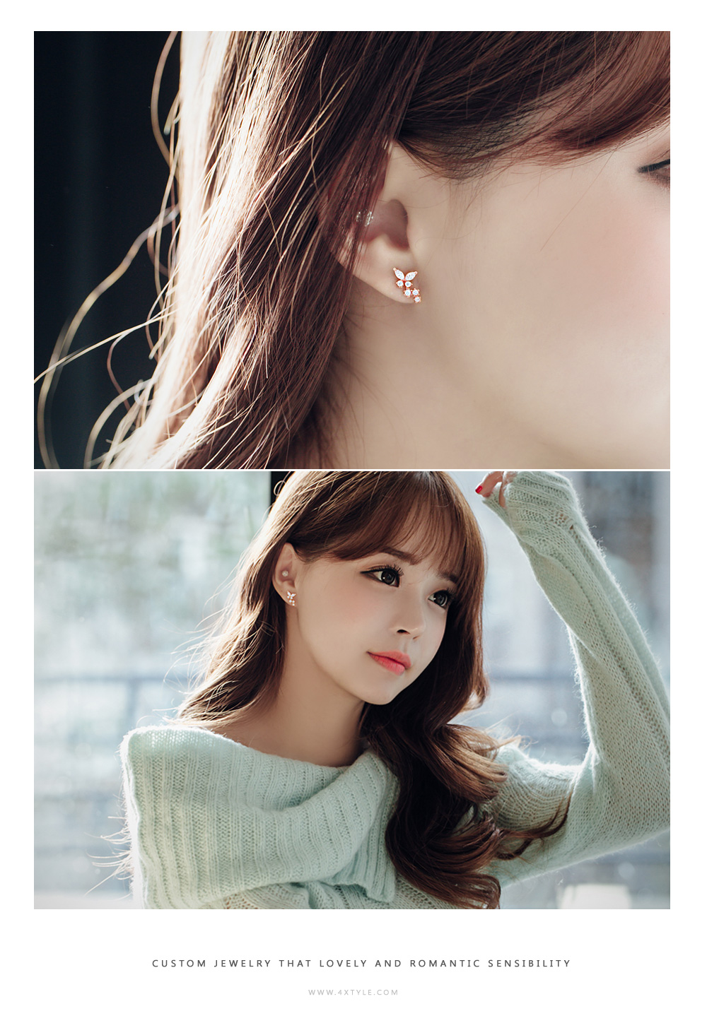 [ 4xtyle ] Naviang Cubic Earring, 3 Colors