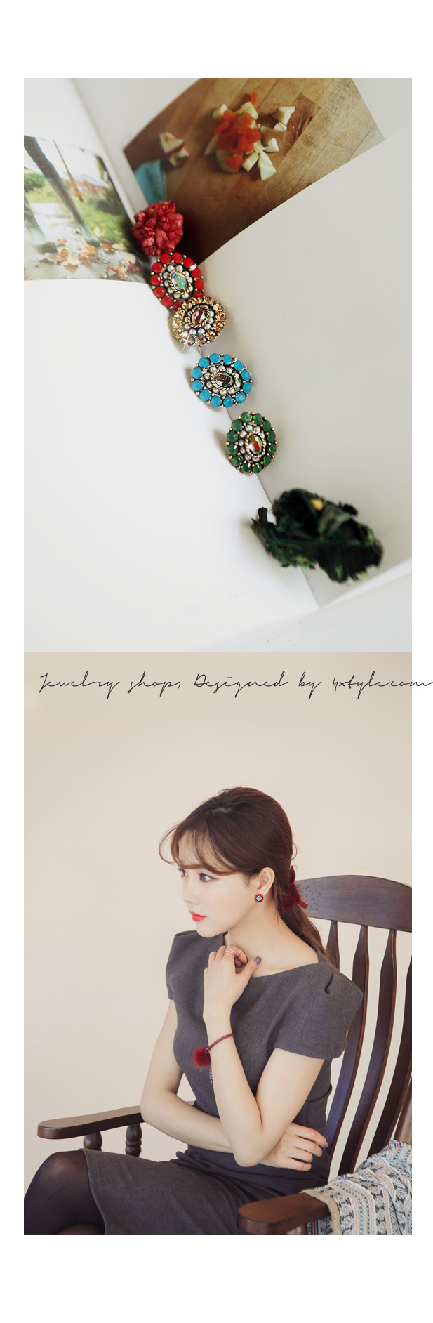 [ 4xtyle ] Syndrome Earring, 4 Colors