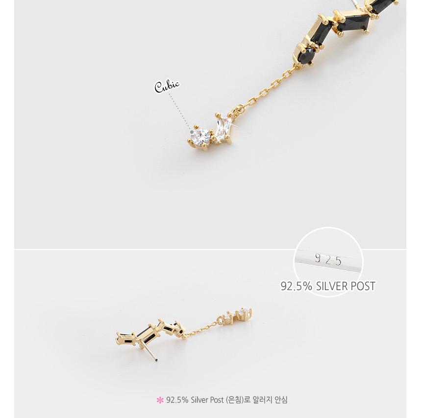 [ 4xtyle ] Black Square Earring, 3 Colors