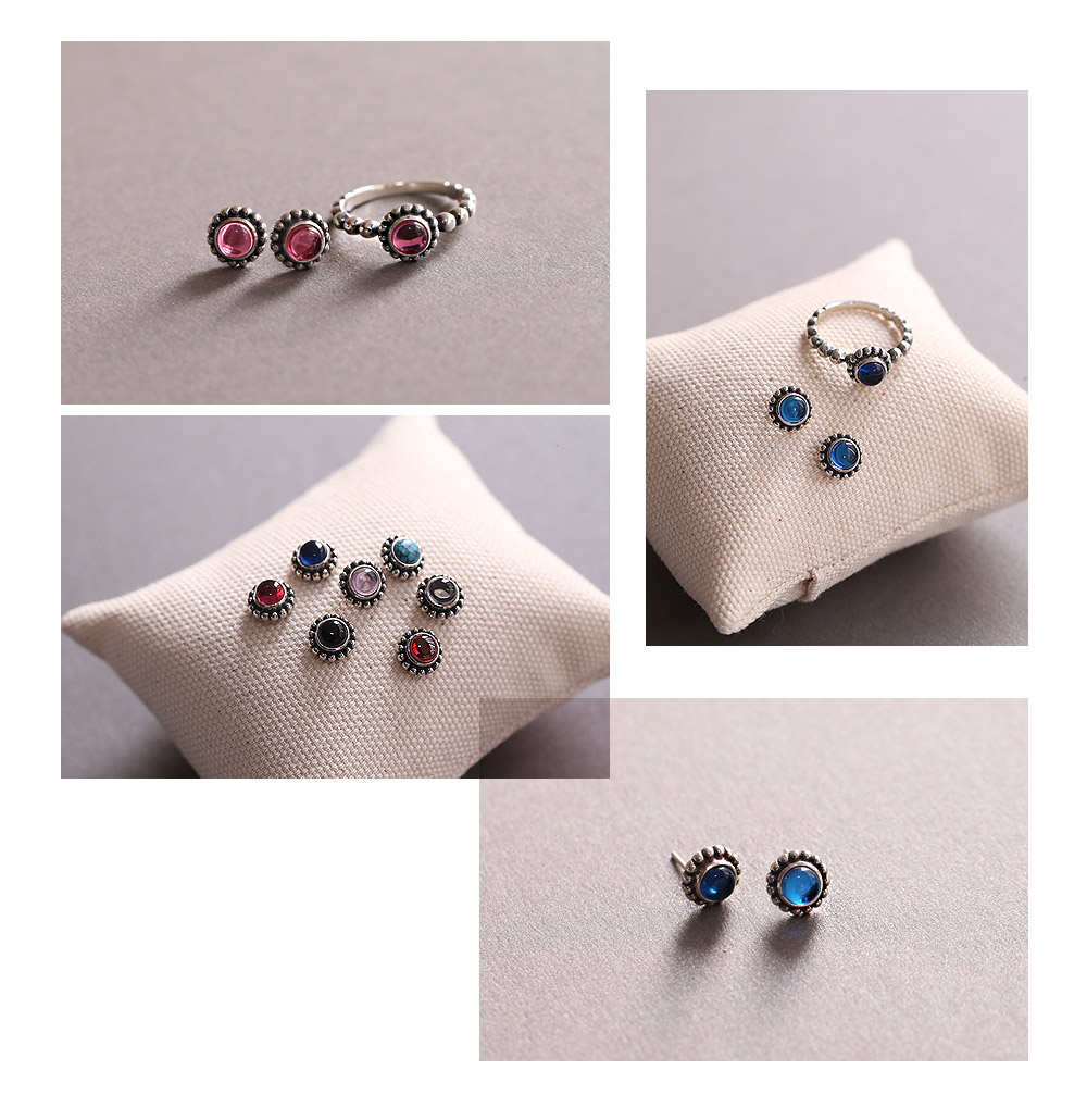 [ 4xtyle ] Macadamia Silver Earring, 9 Colors