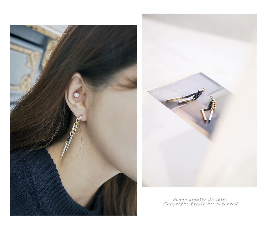 [ 4xtyle ] Mono Chain Earring, 2 Colors