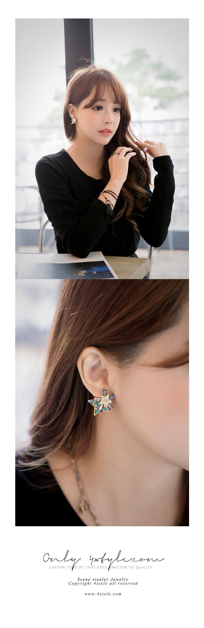 [ 4xtyle ] Starlight Twinkle Eariing, 3 Colors