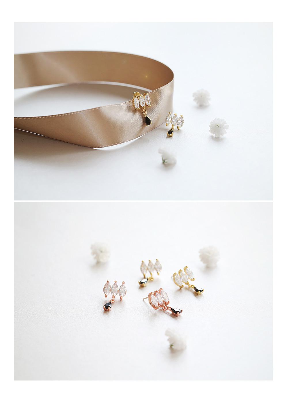 [ 4xtyle ] [银]亲爱的心情立方耳环
