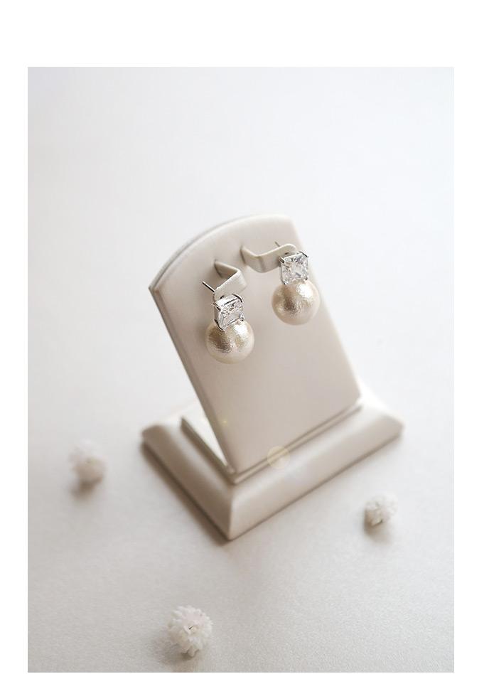 [ 4xtyle ] [银]罗韦尔棉珍珠耳环