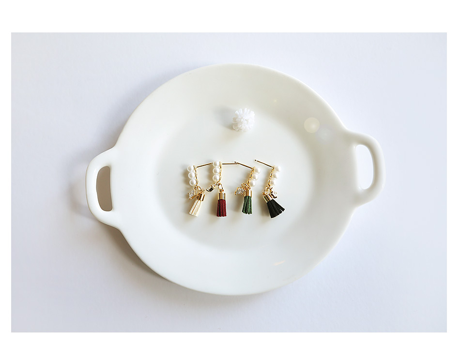 [ 4xtyle ] [银] MELODY TASSEL 耳环