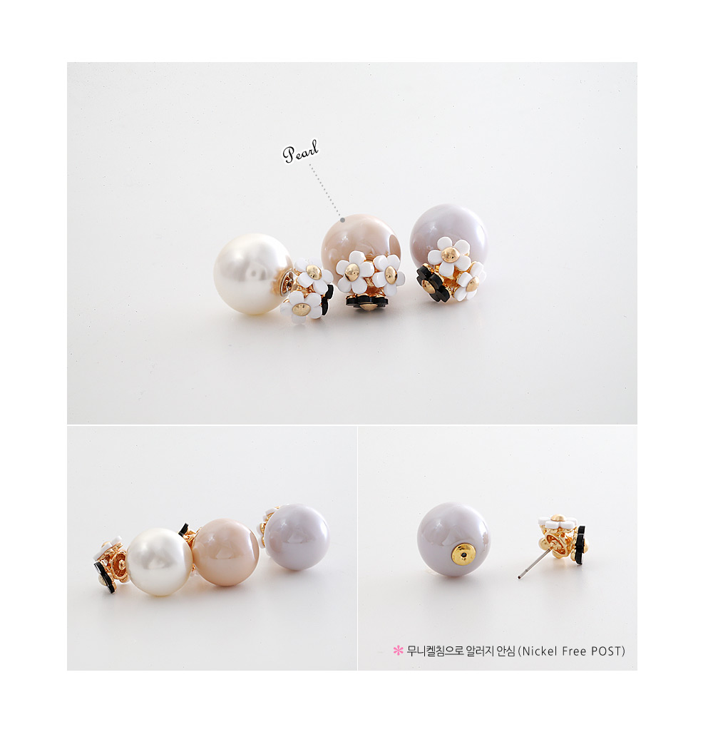 [ 4xtyle ] SWEET FLOWER 2-WAY EARRING