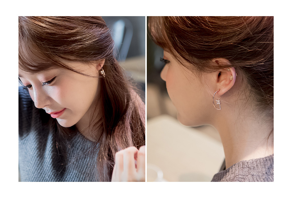 [ 4xtyle ] [SILVER] UNIQUE HOLIC UNBALANCED EARRING