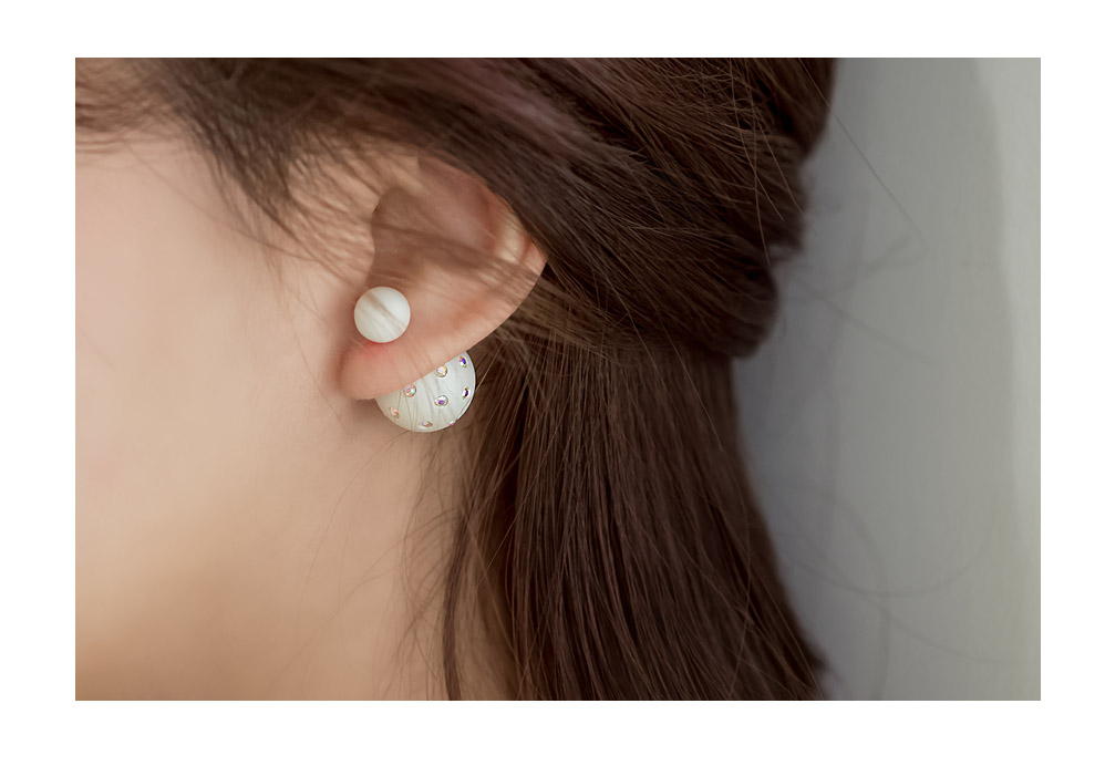 [ 4xtyle ] MIRROR BALL TWO-WAY EARRING