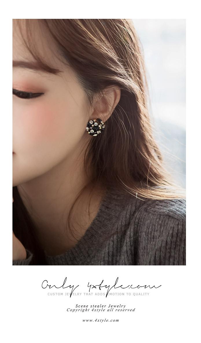 [ 4xtyle ] [SILVER] PRALINE EARRING