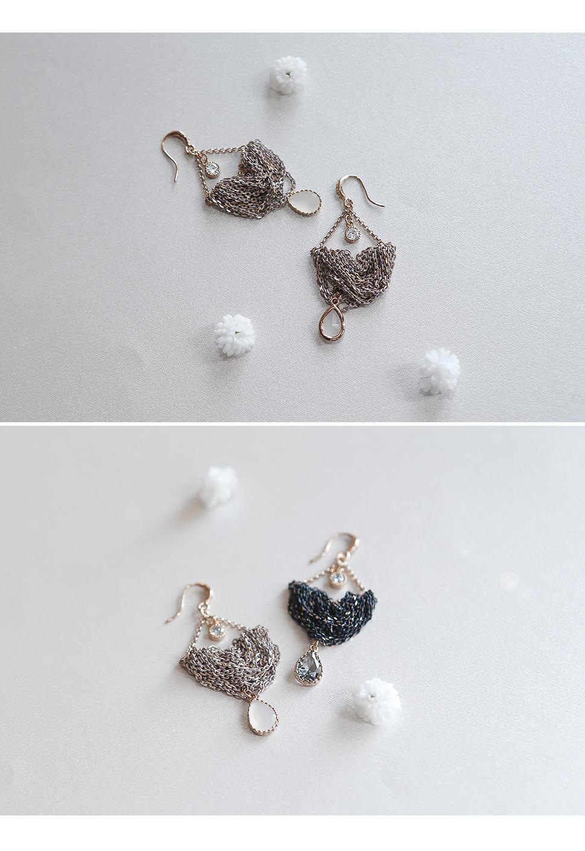 [ 4xtyle ] [手工制作][银]古董考究的耳环