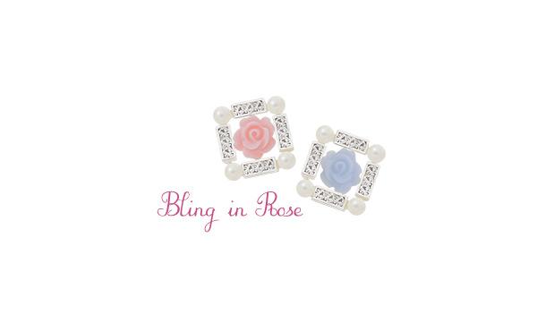 [ 4xtyle ] [银]盲.在玫瑰耳环