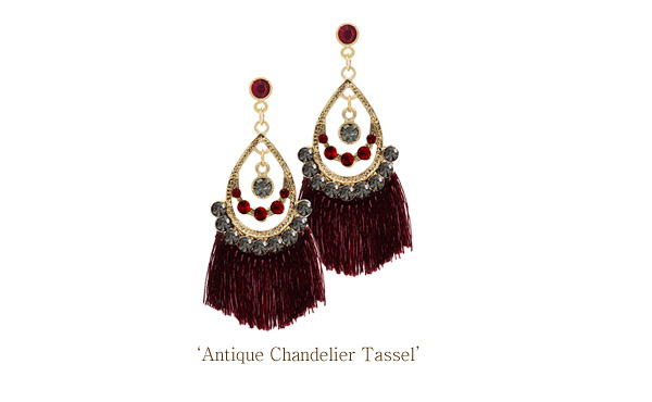 [ 4xtyle ] ANTIQUE CHANDELIER TASSLE EARRING