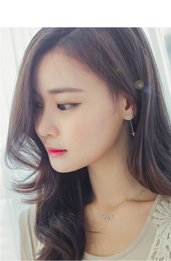 [ 4xtyle ] [SILVER] LOVABLE DAY EARRING(ROSEGOLD)