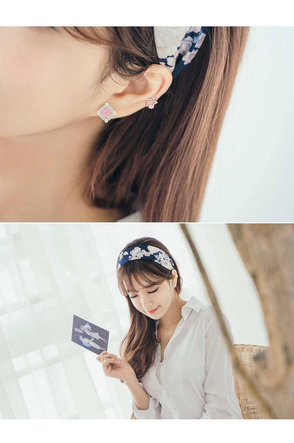 [ 4xtyle ] [SILVER] SWEET MEMORY EAR