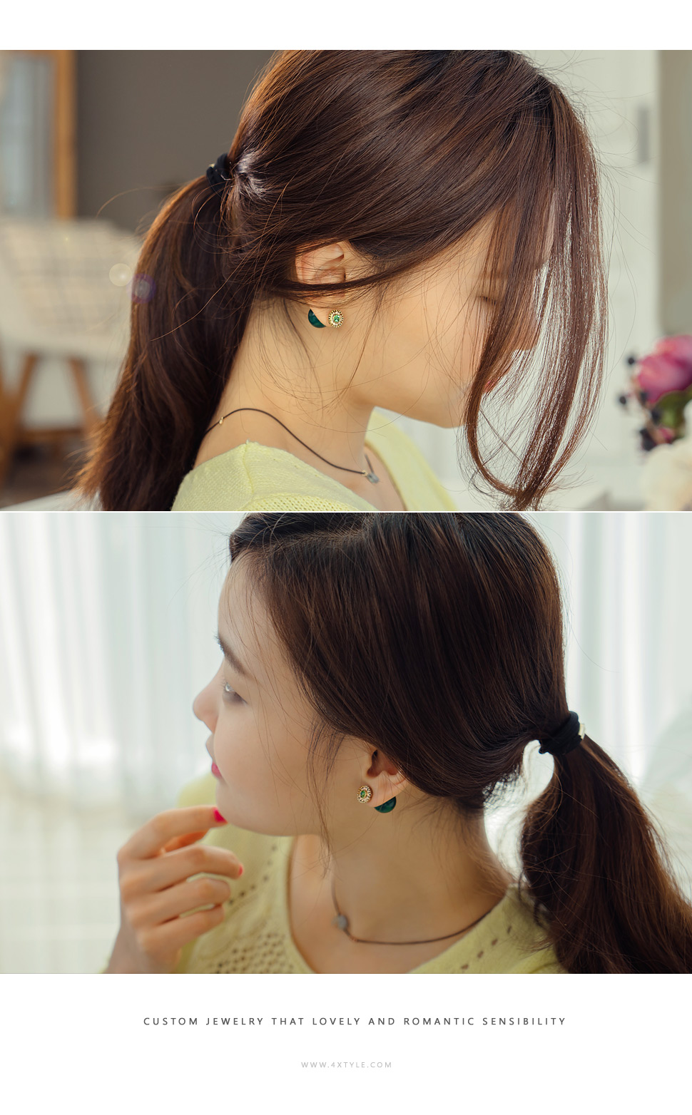 [ 4xtyle ] [SILVER] VIVID TWO-WAY EARRING