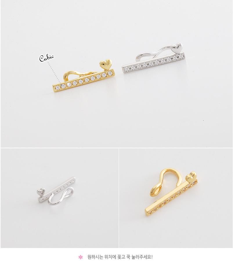 [ 4xtyle ] 心-POINT STICK 耳环