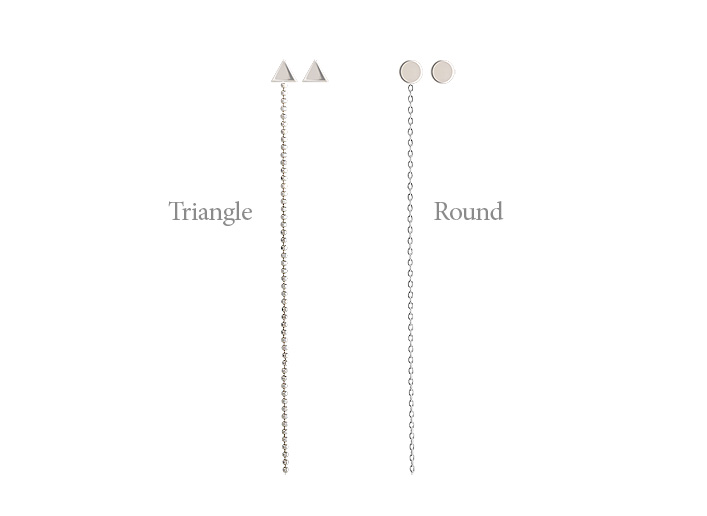 [ 4xtyle ] [SILVER] UNBALANCED LONG EARRING