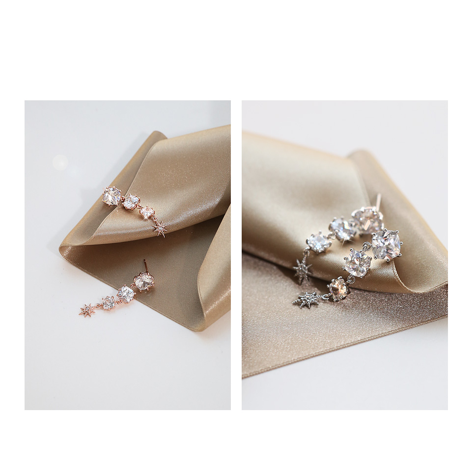 [ 4xtyle ] [SILVER] LOVE PALACE EARRING(WHITEGOLD)