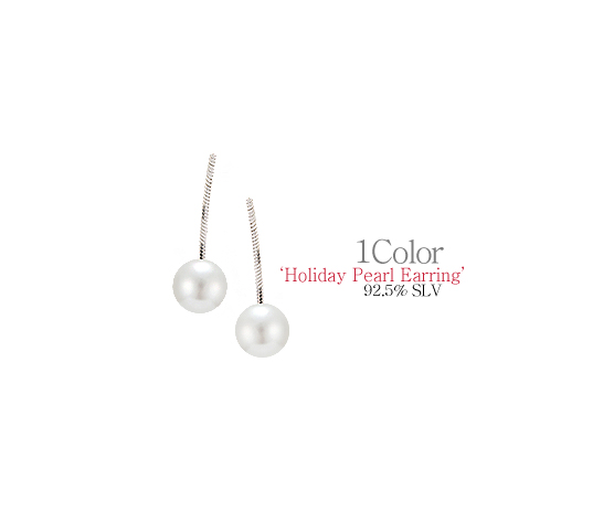 [ 4xtyle ] [SILVER]HOLIDAY PEARL EARRING