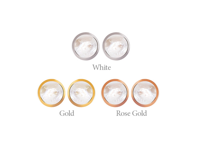 [ 4xtyle ] MANHATTAN MOTHER OF PEARL EARRING(GOLD/ROSEGOLD)