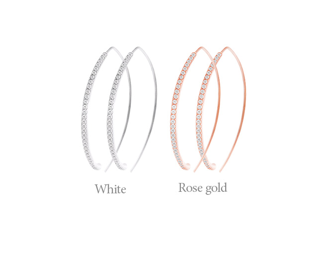 [ 4xtyle ] [SILVER] SLIM CLASSIC EARRING