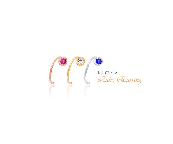 [실버] 레이크 귀걸이 - 폭스타일, 3,500원, 실버, 볼귀걸이