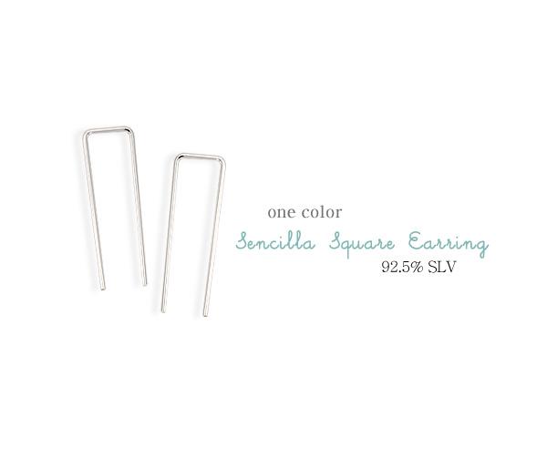 [ 4xtyle ] [银] censia 方形耳环