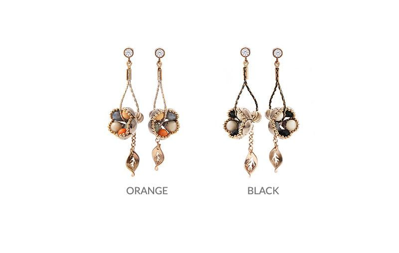 [ 4xtyle ] [4xstyle][handmade] [silver post] bello flower earring