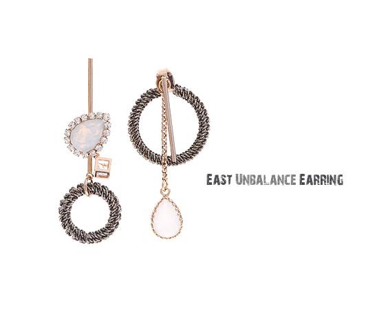 [ 4xtyle ] [4xstyle][handmade] east unbalance earring