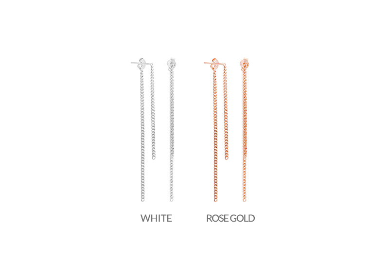[ 4xtyle ] [4xstyle][silver] fantasy chain long earring