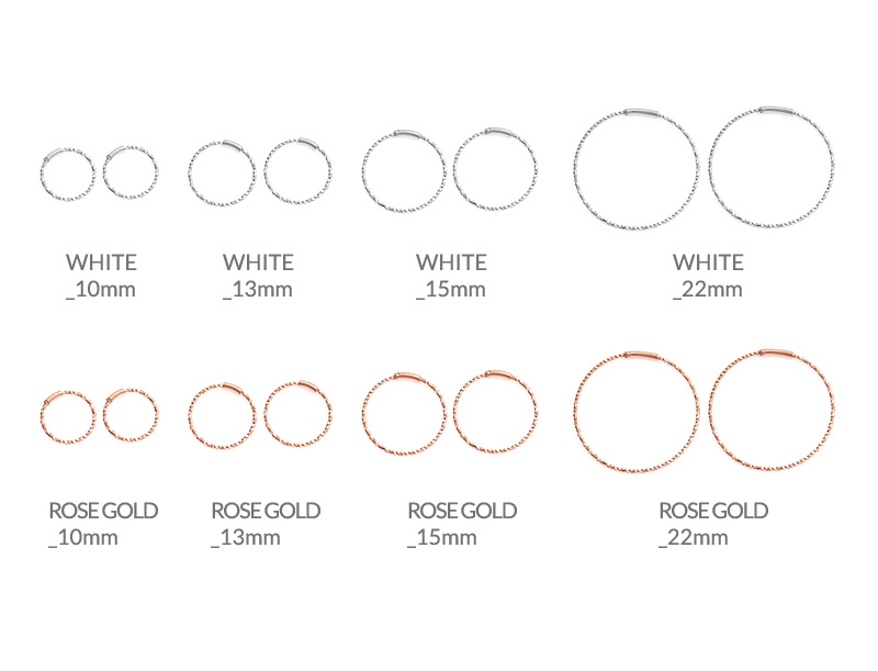 [ 4xtyle ] [4xstyle][silver] Round slim cutting earring