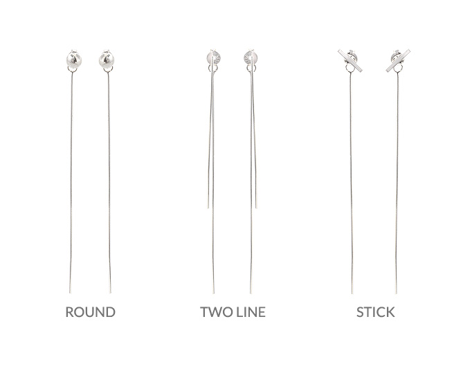 [ 4xtyle ] [SILVER] Simple Long Earring