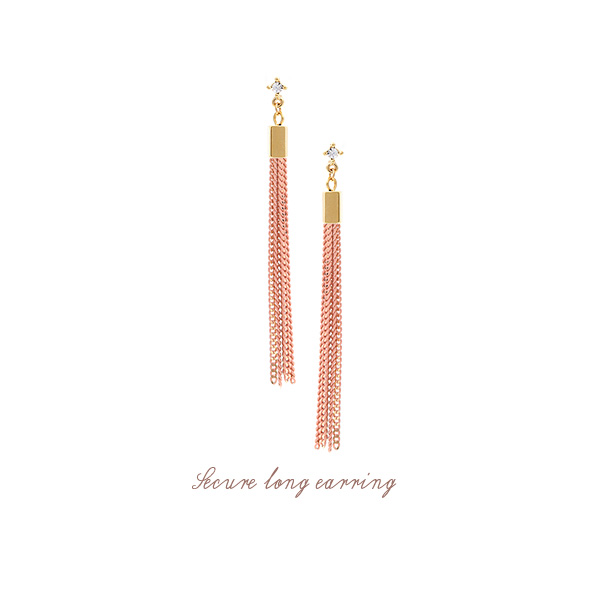 [ 4xtyle ] [4xstyle]secure long earring