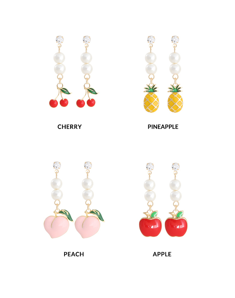 [ 4xtyle ] Fruits pearl earrings