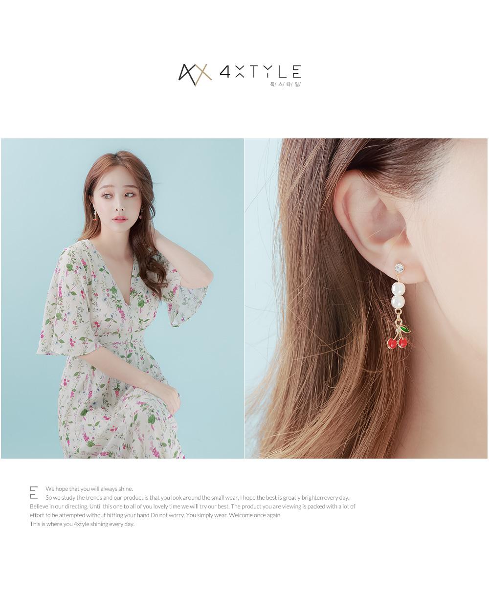 [ 4xtyle ] 水果珍珠耳環