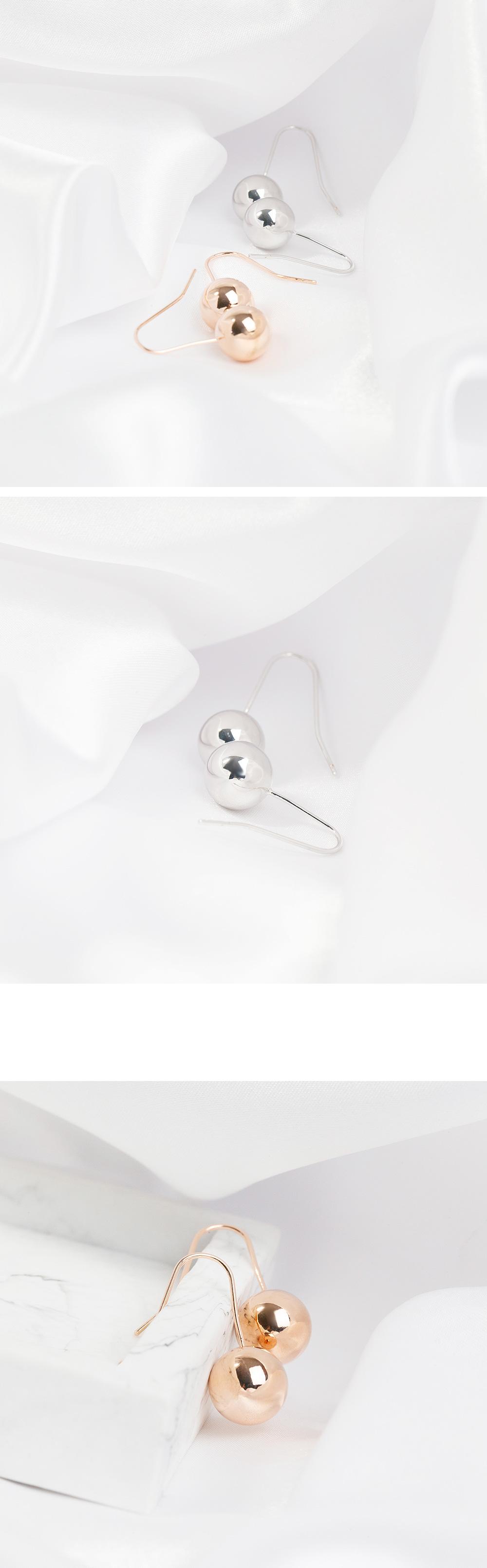 심플 벨 귀걸이 - 폭스타일, 6,000원, 실버, 볼귀걸이