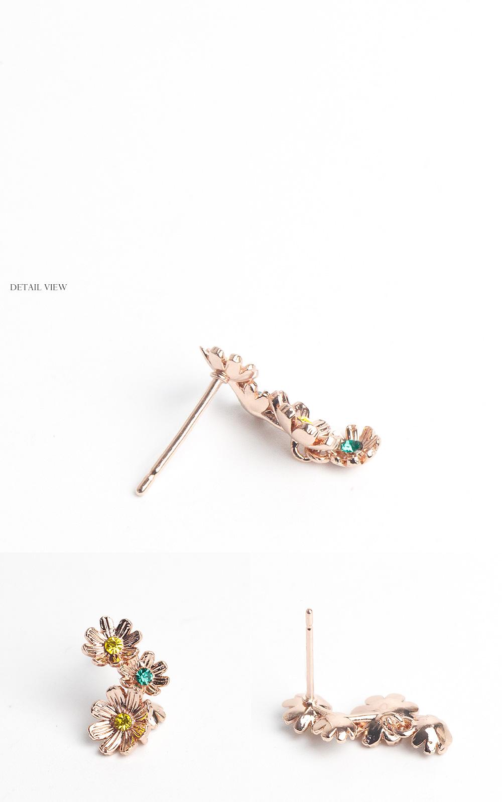 [스와로브스키] 아라모드 플라워 언발 귀걸이 - 폭스타일, 12,000원, 진주/원석, 드롭귀걸이